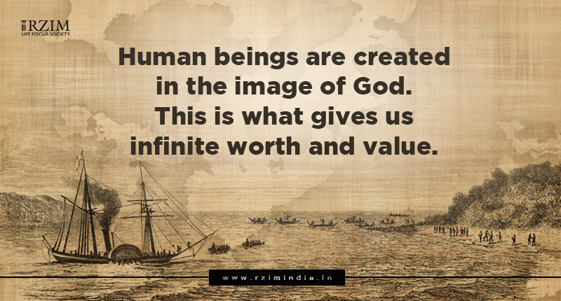 Human beings are created in the image of God