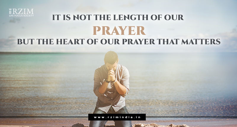 Heart of prayer is what matters