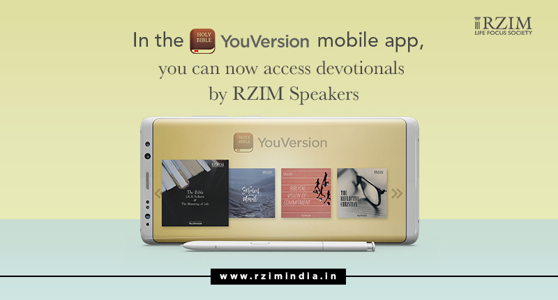 Rzim India devotionals in Youversion Bible App