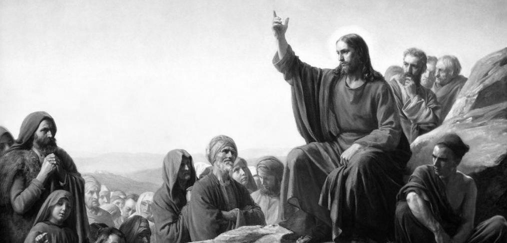 Sermon on the Mount by Carl Bloch (1877)