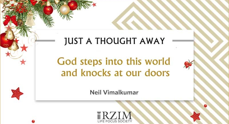 God steps into this world and knocks at our doors