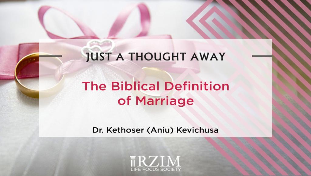 A Biblical Definition of Marriage - Aniu - 1