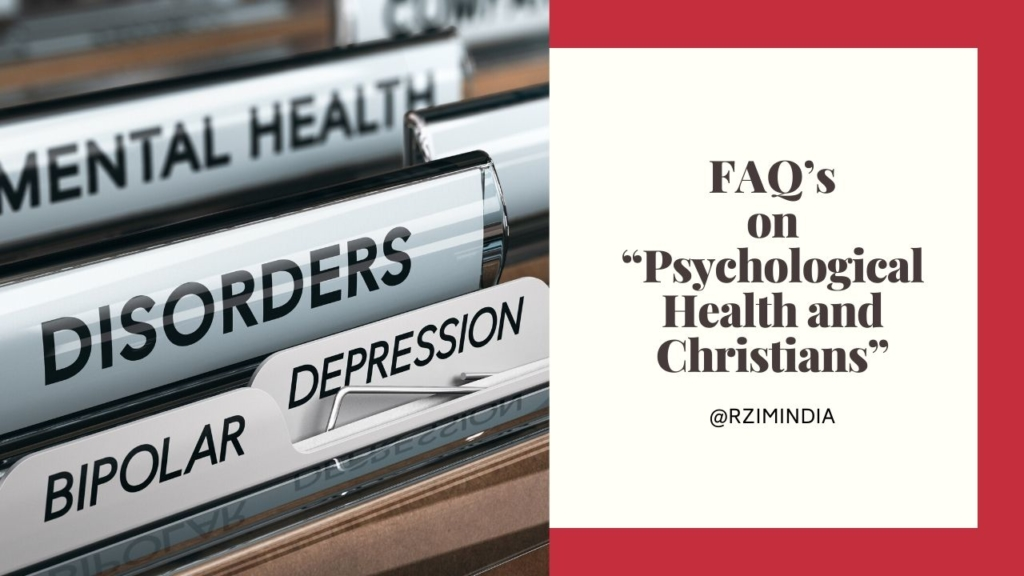 """FAQ's on """"Psychological Health and Christians"""""""